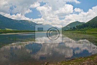 Reflections on the lake matese