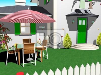 Relax in Giardino-In the Garden-3d