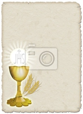 Wall mural Religion Chalice Cup and Religion and wheat - corn -1