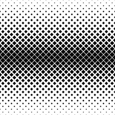 Wall mural Repeating monochrome square pattern