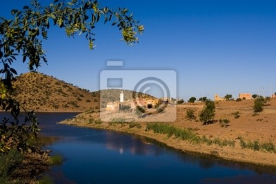 reservoir in the Atlas mountain