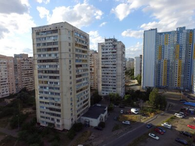 Residential area of Kiev (drone image).