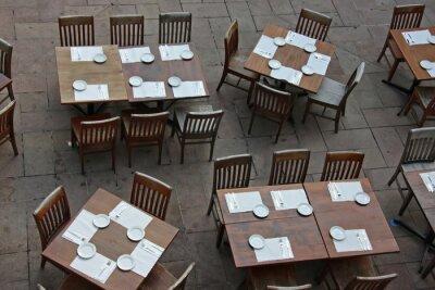 Restaurant overhead view