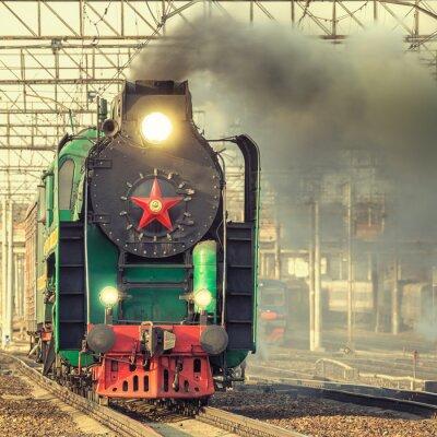 Wall mural Retro steam train.