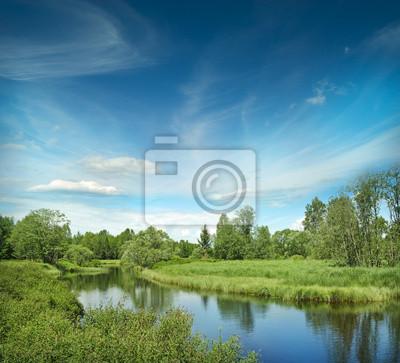 River Vltava in the national park Sumava Crech republic - Europe