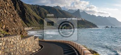road along the ocean leading to the sea village of Almaciga, Tenerife