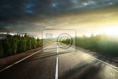 road in north mountains