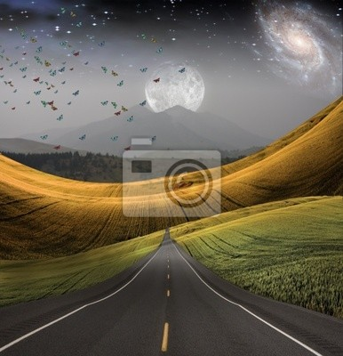Road leads into distance