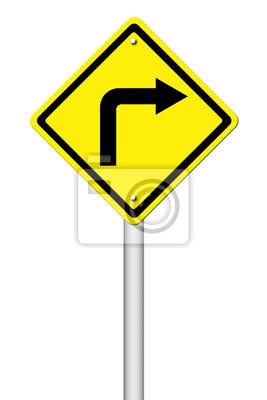 Road Sign - Right Turn Warning