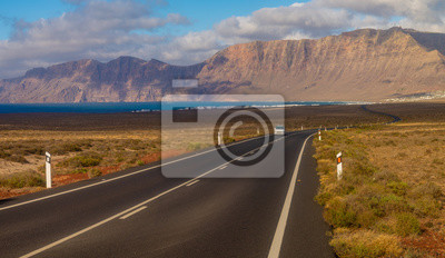 Road to Caleta de Famara (Lanzarote, Spain)