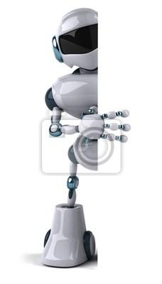 Robot and white panel