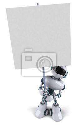 Robot avec un panneau