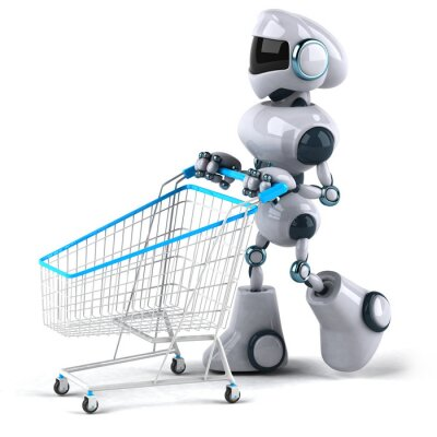 Robot et shopping