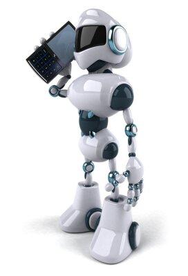 Robot et téléphone portable