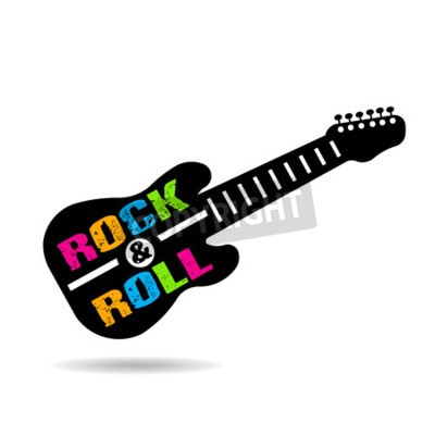 Wall mural Rock and Roll guitar