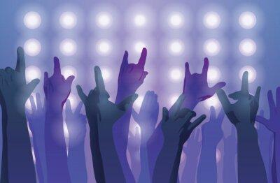 Wall mural Rock concert. Hands up.