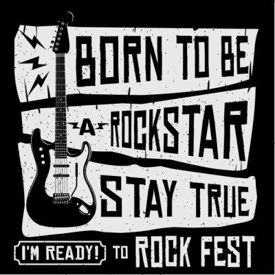 Wall mural Rock Music Festival Vector T Shirt or Poster Illustration
