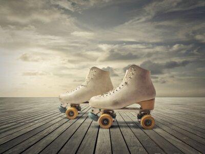 Wall mural Roller skates