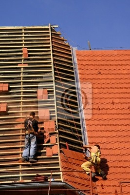 Roofing construction works