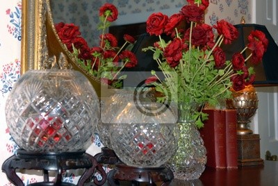 rose bowls and flowers