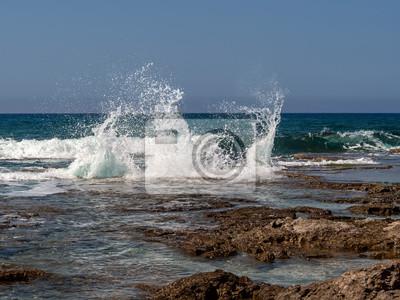 Rough Mediterranean Sea