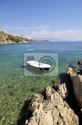 Rowboat on a beautiful sea