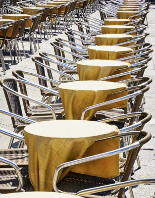 Wall mural rows of chairs