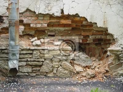 Wall mural ruin