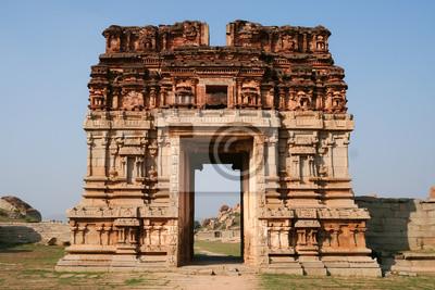 Ruins in hampi karnataka india