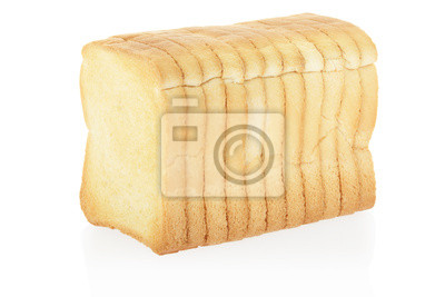 Wall mural Rusk bread isolated on white, clipping path included