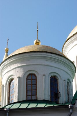 Russian orthodox cathedral in historical Russian town of Chernigov, Ukraine.
