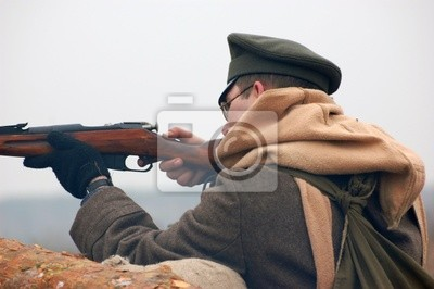 Russian soldier.Civil war 1918. reenacting