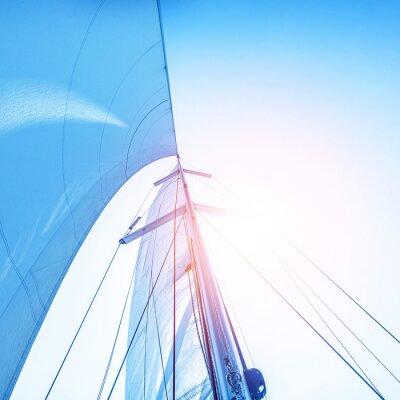 Wall mural Sail on blue sky backdrop