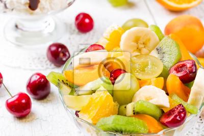 Salad of fresh ripe fruits