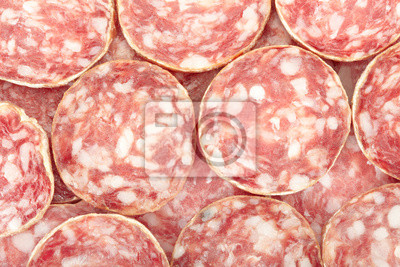 Wall mural Salami texture background