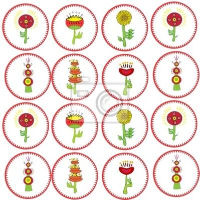 Sameles. flowers . Vector