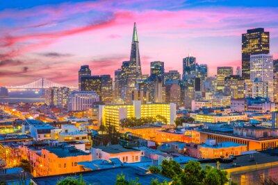 Wall mural San Francisco, California, USA Skyline