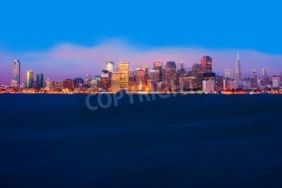Wall mural San Francisco skyline at night