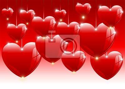 San Valentino Palloncini Sfondo-Valentine's Balloons-Vector