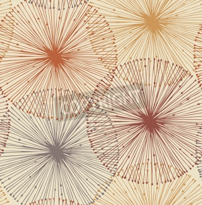 Wall mural Sandy and orange radial elements  Seamless background for patterns, cards, textile, wallpapers, web pages