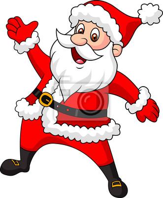 Santa clause waving hand