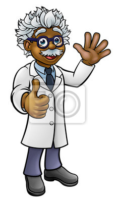 Scientist Professor Cartoon Character