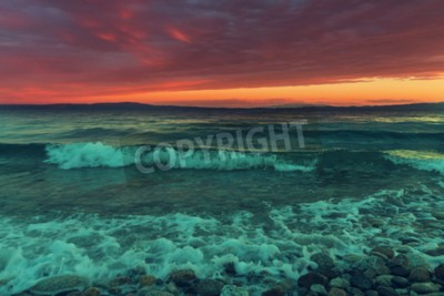 Wall mural Sea sunset