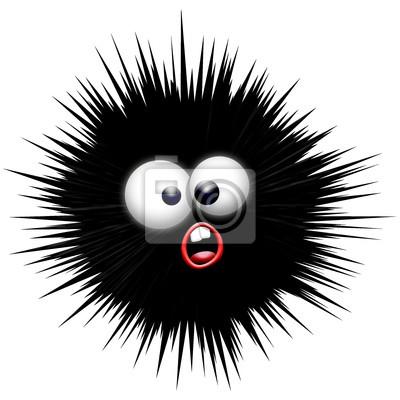 Wall mural Sea - urchin Sea Urchin - Oursin -Cartoon