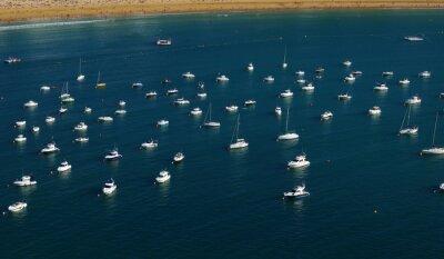 Wall mural Sea water and ship yachts