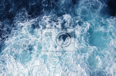 sea water with white wave for background