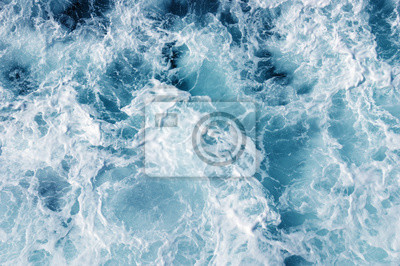 Wall mural  sea water with white wave for background