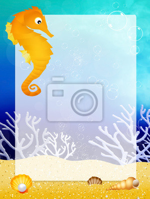 seahorse with frame