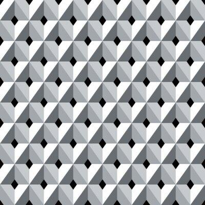 Wall mural Seamless 3d geometric diamonds pattern.