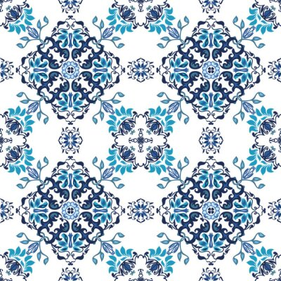 Wall mural Seamless abstract floral pattern for fabric